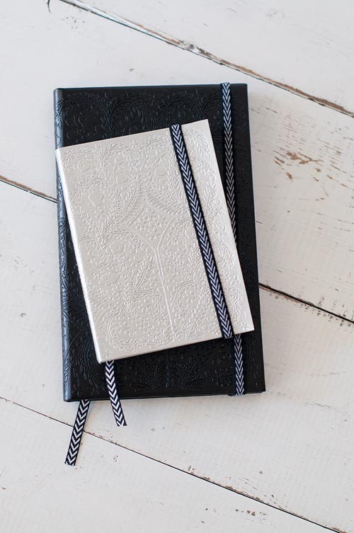 Lacroix Notebook Small Silver And Medium Black