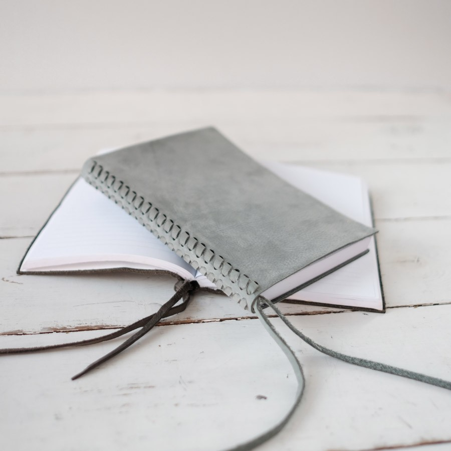 Braided leather spine journal by blue sky papers braided leather spine journal slate nubuck soft and beautiful by blue sky papers fandeluxe Image collections