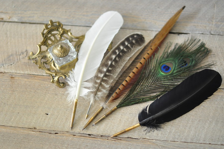 Feather Quill Pens | Quill Pens | Plume Pens - by Blue Sky ...