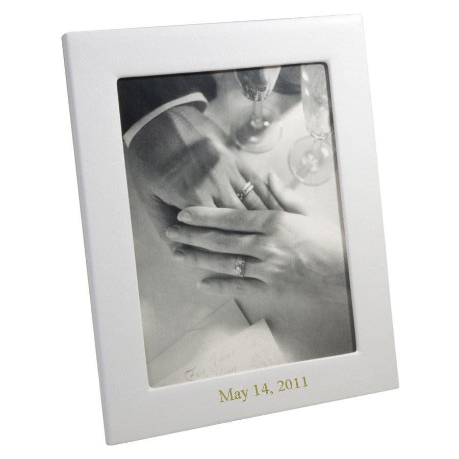 Personalized leather photo frames leather photo frame personalized wedding photo frame from blue sky papers jeuxipadfo Image collections