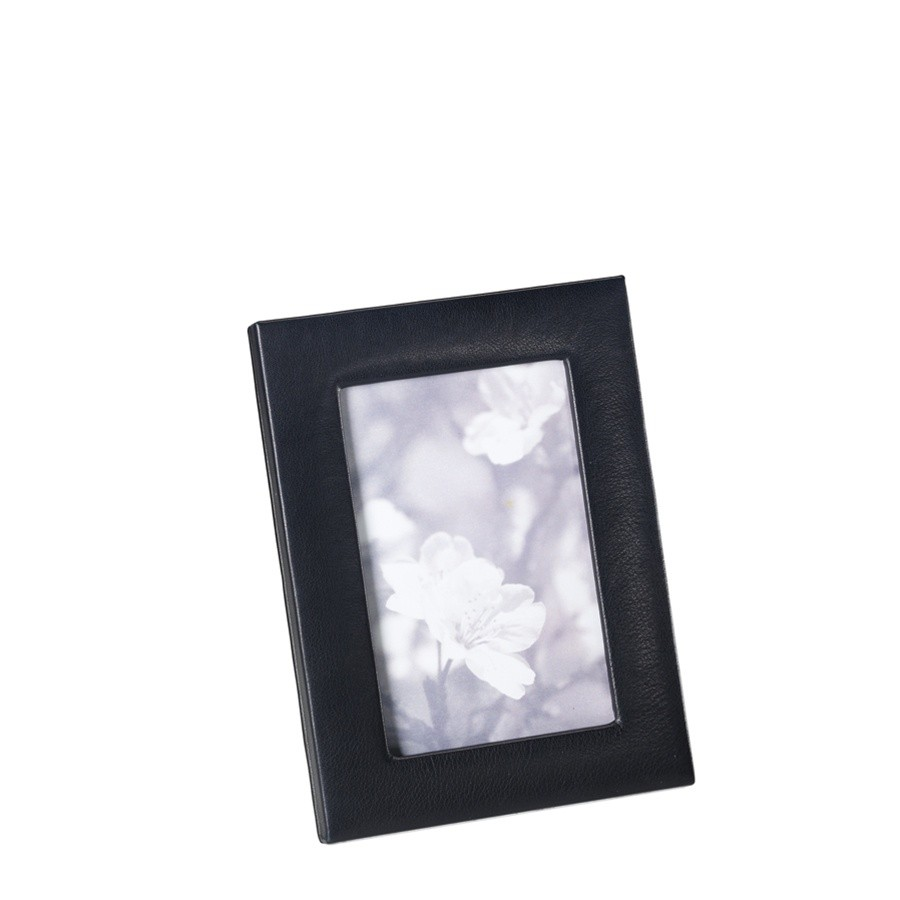 Leather photo frames black leather photo frame from blue sky papers jeuxipadfo Image collections