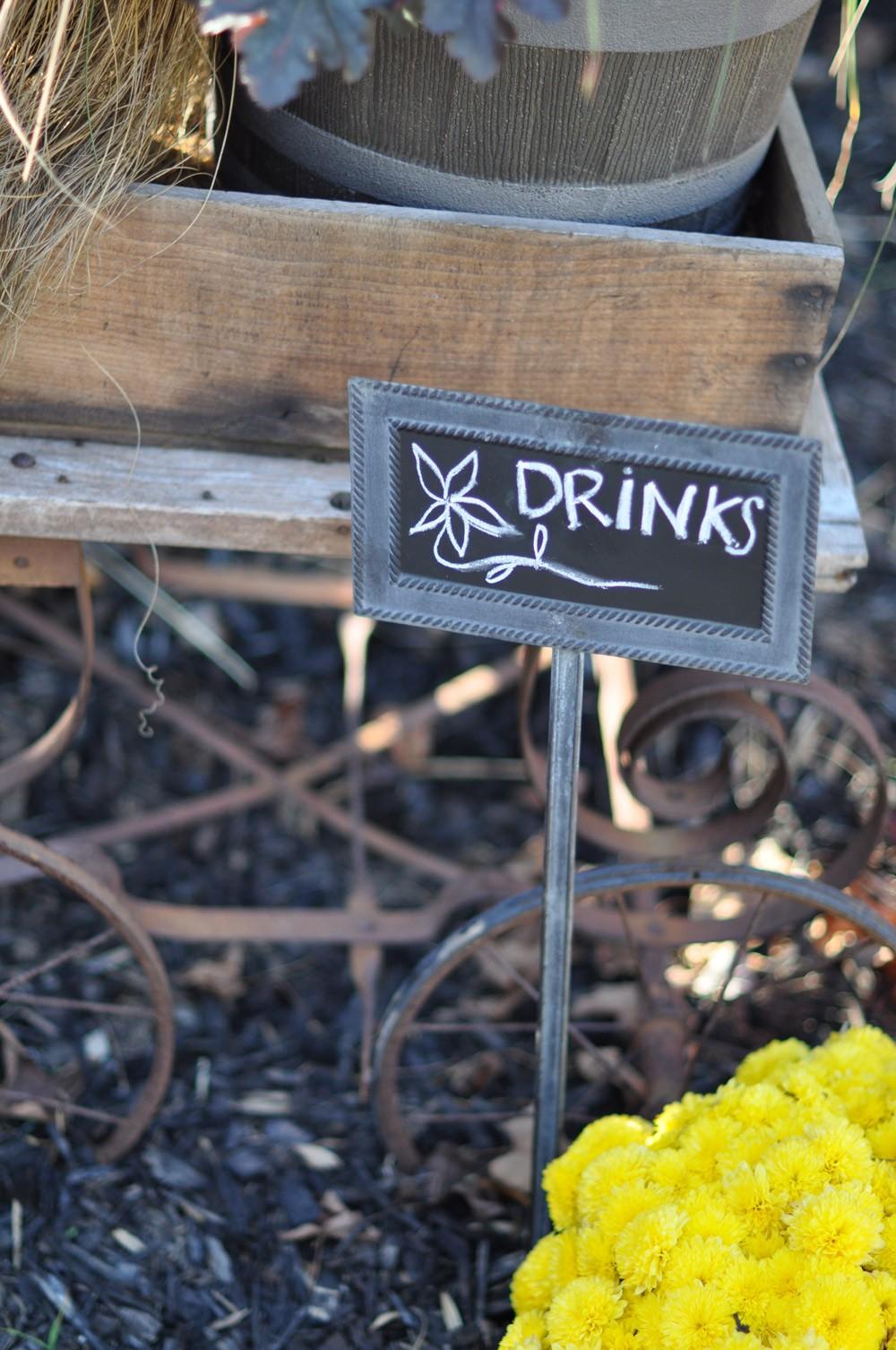 ... #5 Garden Stake Chalkboard Sign ...