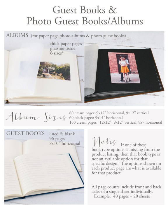 Photo Book Guest Book: Soft Leather Guest Book By Blue Sky Papers