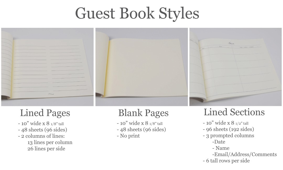 guest sign in book an archival keepsake by blue sky papers. Black Bedroom Furniture Sets. Home Design Ideas