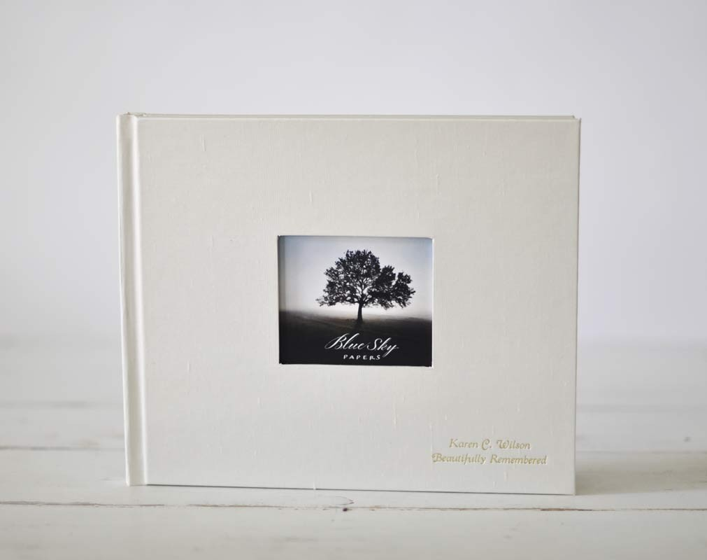 Guest Book with Photo Frame Cover, an archival keepsake - by Blue ...