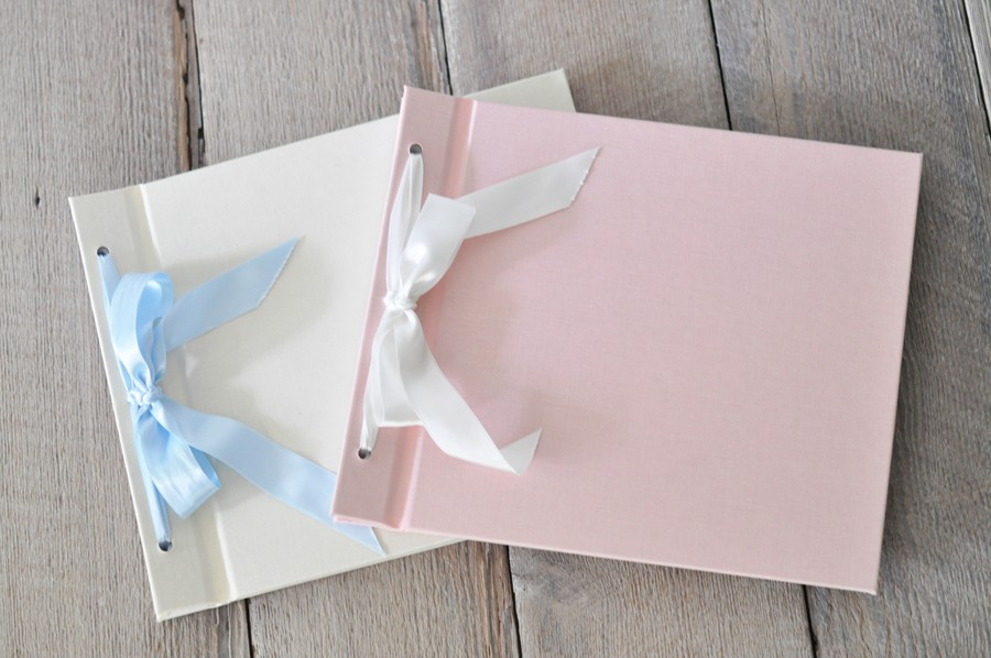 Ribbon & Bow Baby Pictues Albums, handmade baby albums - by Blue ...