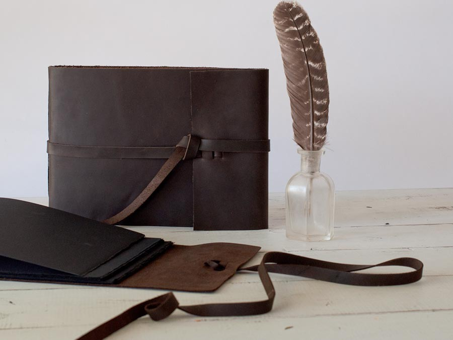 leather artisan books the perfect vintage inspired handmade photo guest book
