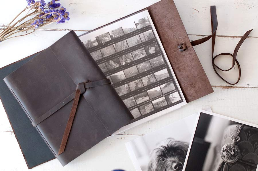 Leather Portfolio Book By Blue Sky Papers