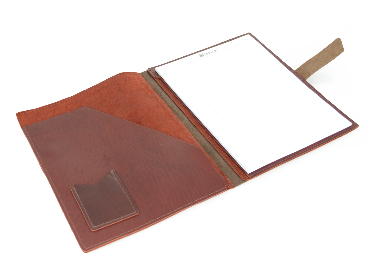 Rustic Leather Pad Portfolio By Blue Sky Papers