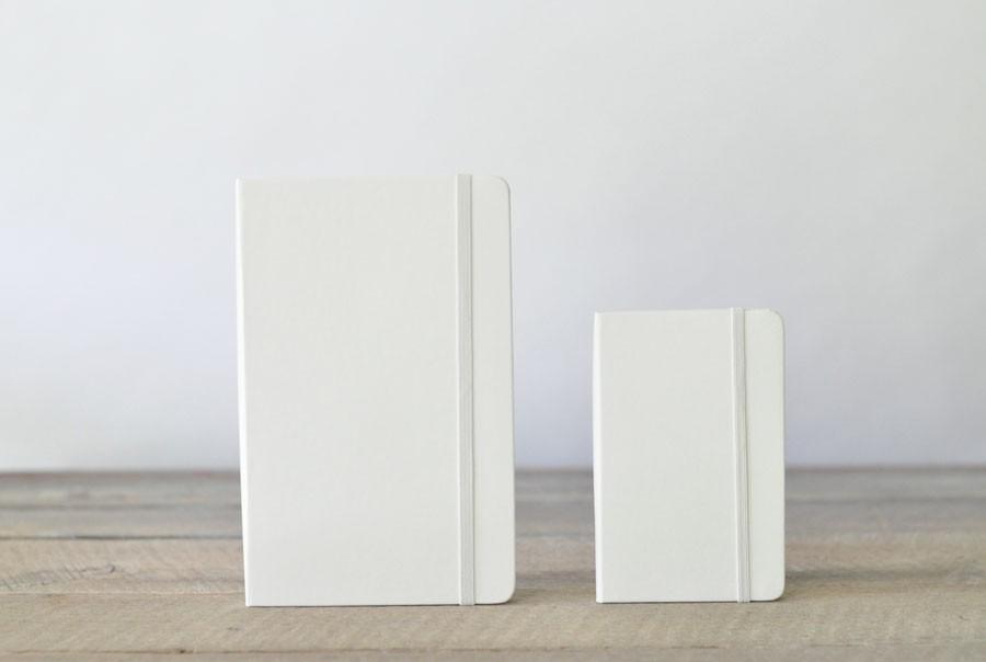 white blank moleskine notebooks  for the classic artist