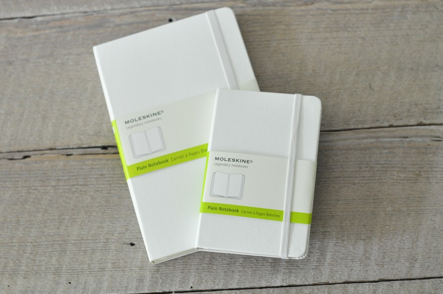 White Blank Moleskine Notebooks, for the classic artist - by Blue ...