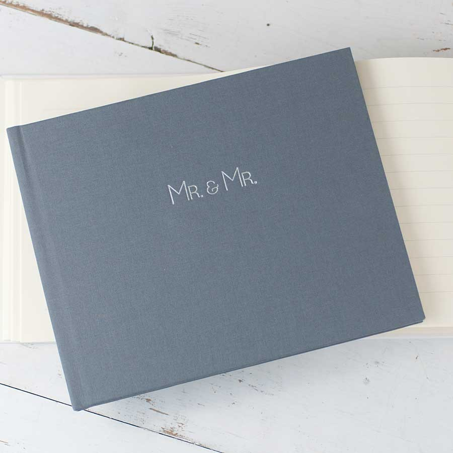 Mr And Wedding Guest Book Handmade By Blue Sky Papers