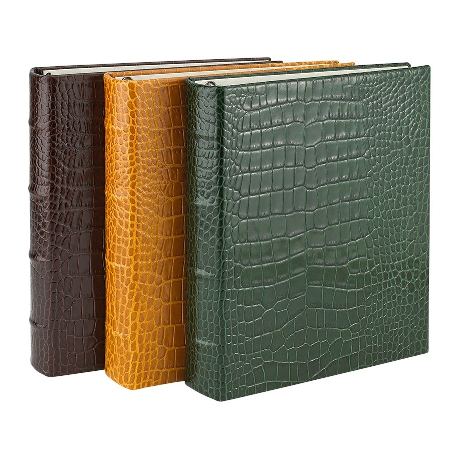 clear pocket leather photo album from blue sky papers. Black Bedroom Furniture Sets. Home Design Ideas