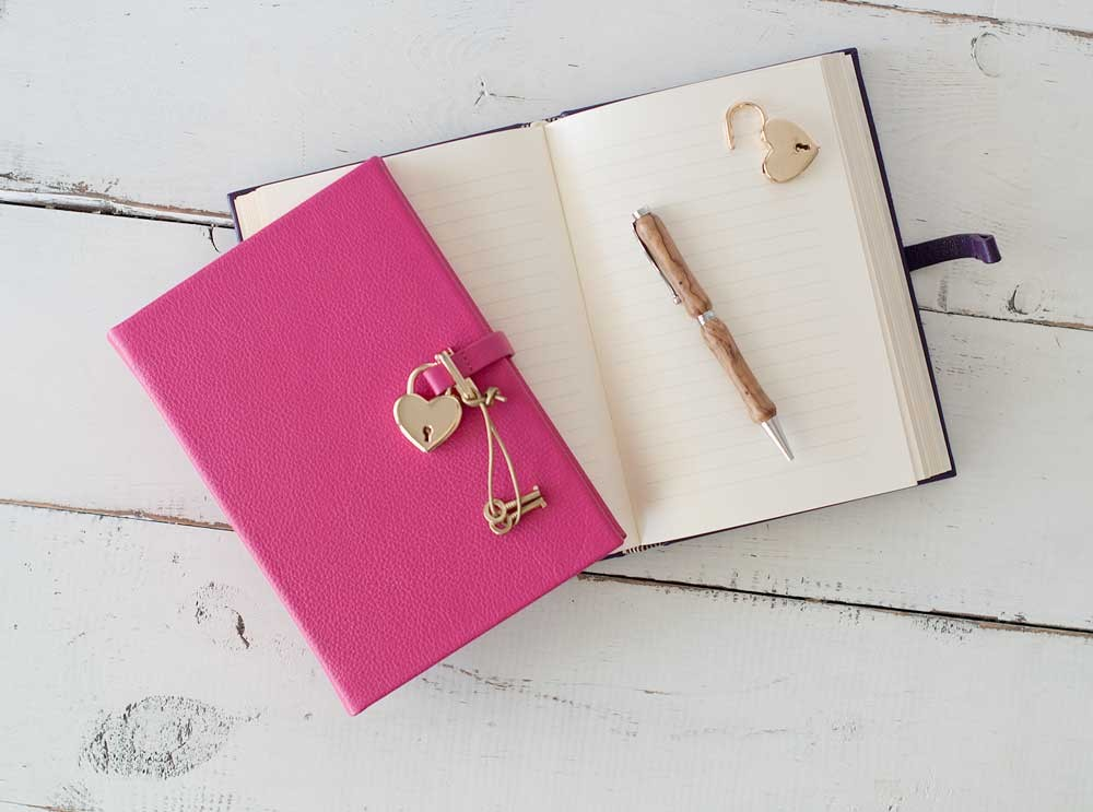 Diary with lock for adults