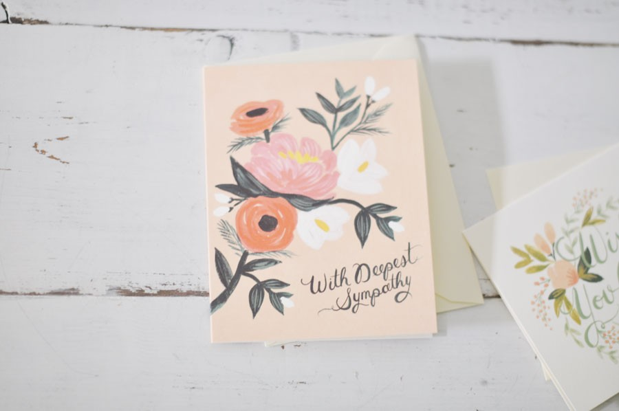Rifle sympathy cards a hand painted expression of comfort by blue sympathy cards sympathy cards with deepest sympathy altavistaventures Gallery