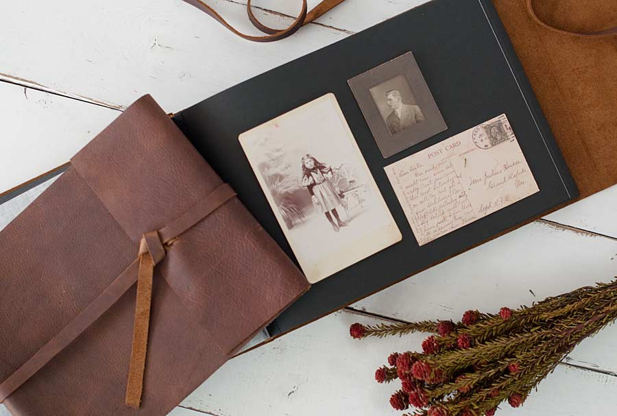 Leather Rustic Album Distressed Custom Design By Blue Sky