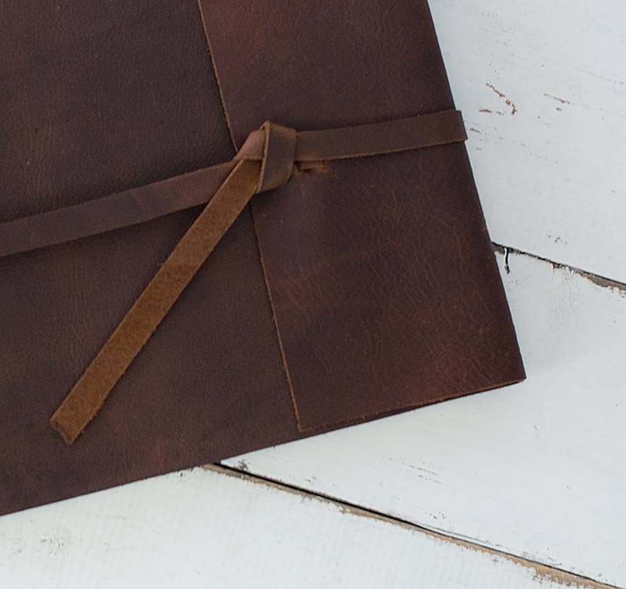 Leather Rustic Album Distressed Custom Design By Blue Sky Papers