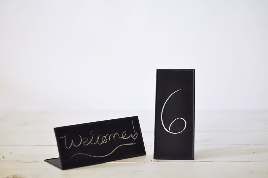 ... Chalkboard Table Signs   Horizontal(left) U0026 Vertical(right) ...
