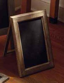 Beau ... #11 Tabletop Chalkboard A Frame   Single Sided