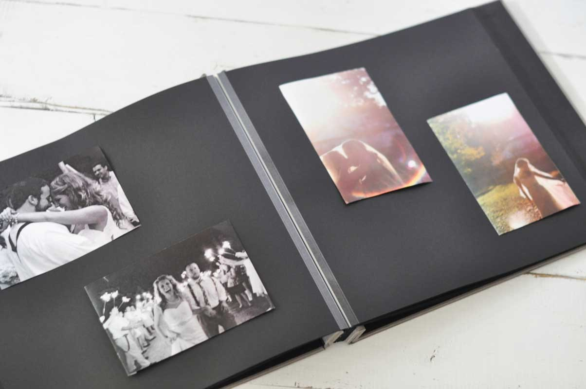 post bound black page photo album an archival keepsake. Black Bedroom Furniture Sets. Home Design Ideas