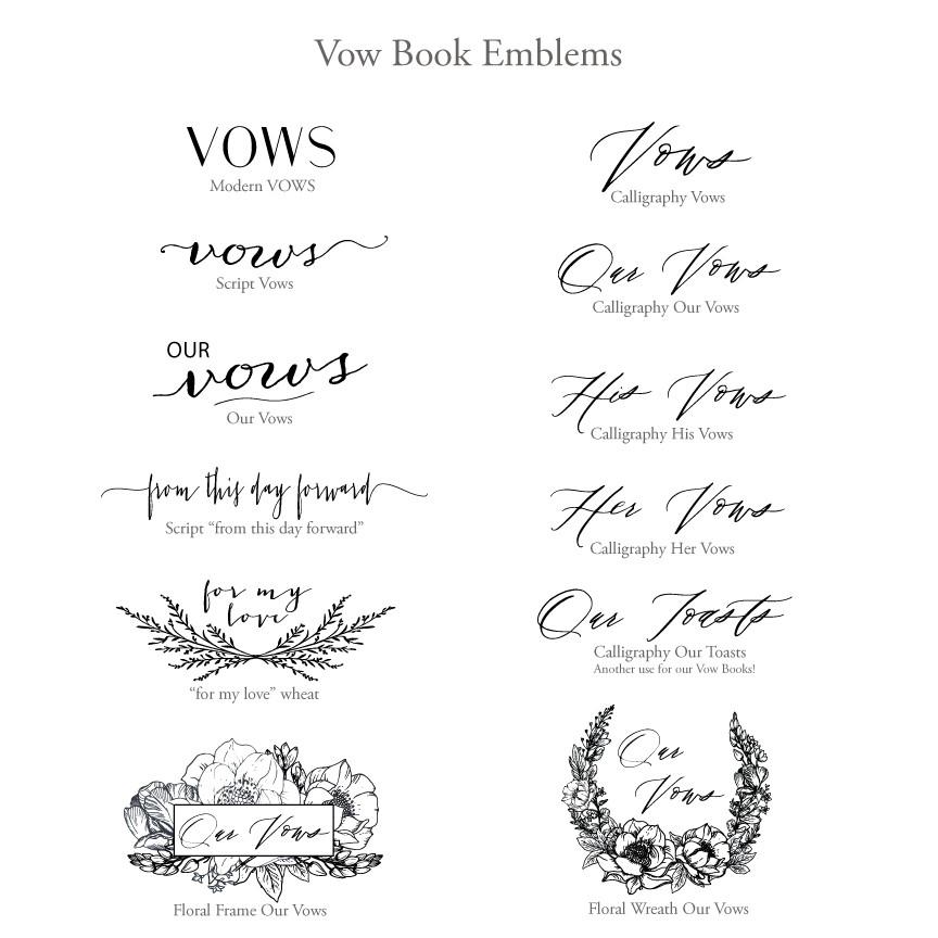 Wedding vow keepsake book by blue sky papers wedding vow keepsake book vow book emblems by blue sky papers junglespirit Images