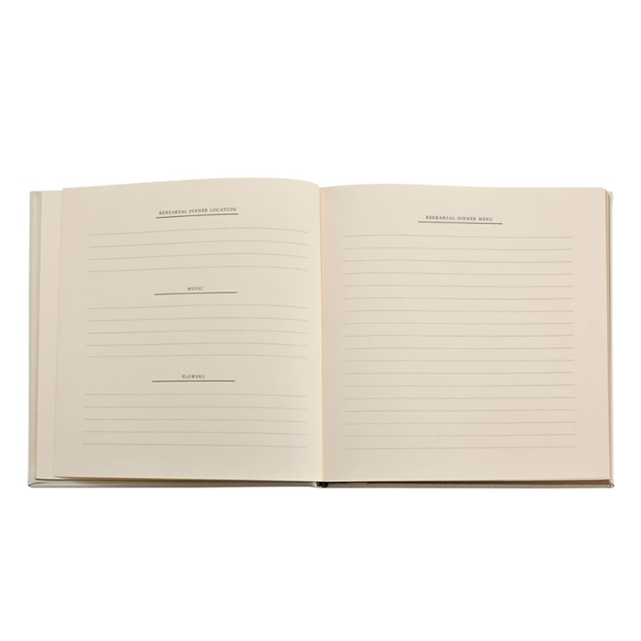 wedding journal keepsake guest book from blue sky papers