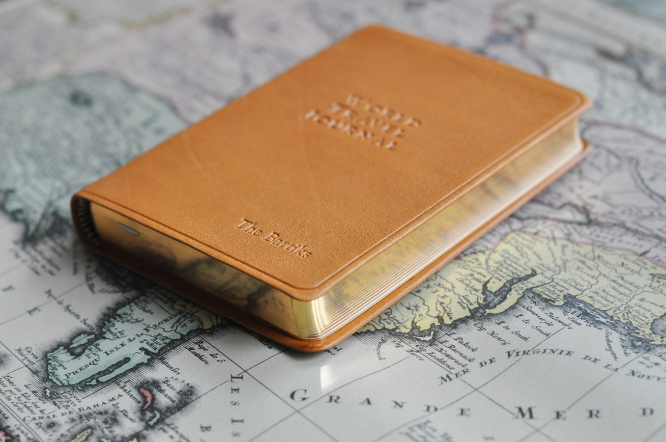 Personalized Leather World Travel Journal Travelers