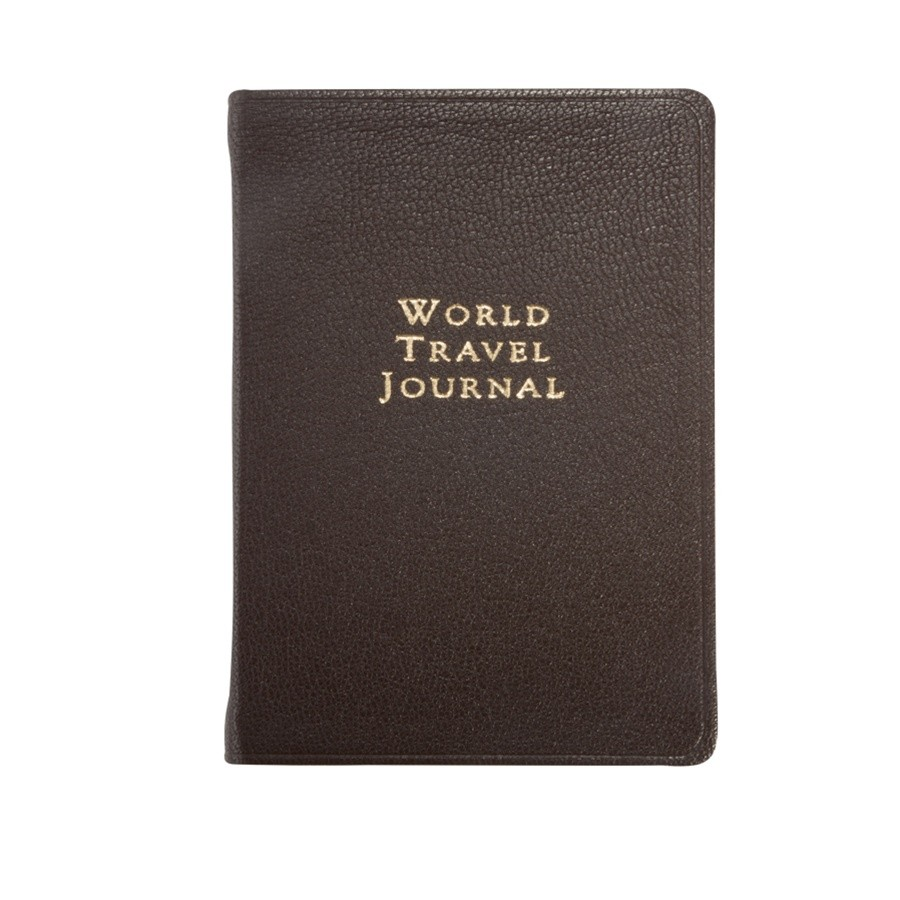 personalized leather world travel journal