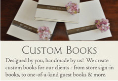 Custom Funeral Books, Guest Books, Wedding Albums and Memory Books from Blue Sky Papers
