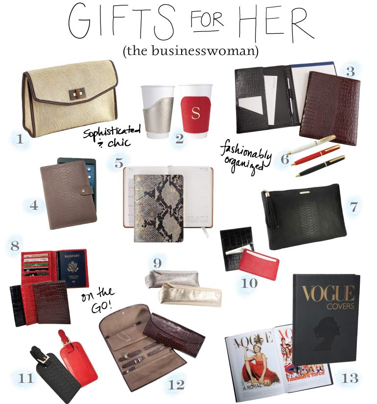 Stylish Gifts for Business Women by BlueSkyPapers.com!
