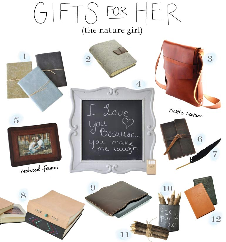 Gifts for Her - the outdoorsy, natural girl - from BlueSkyPapers!