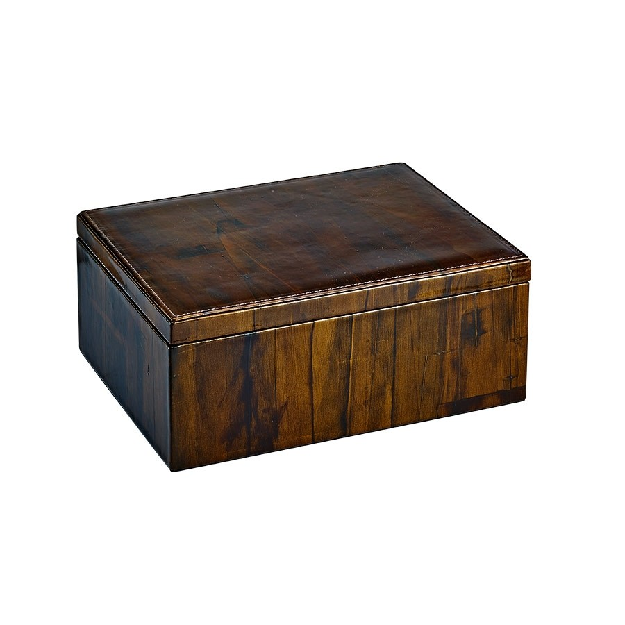 Leather Storage Box Sandalwood