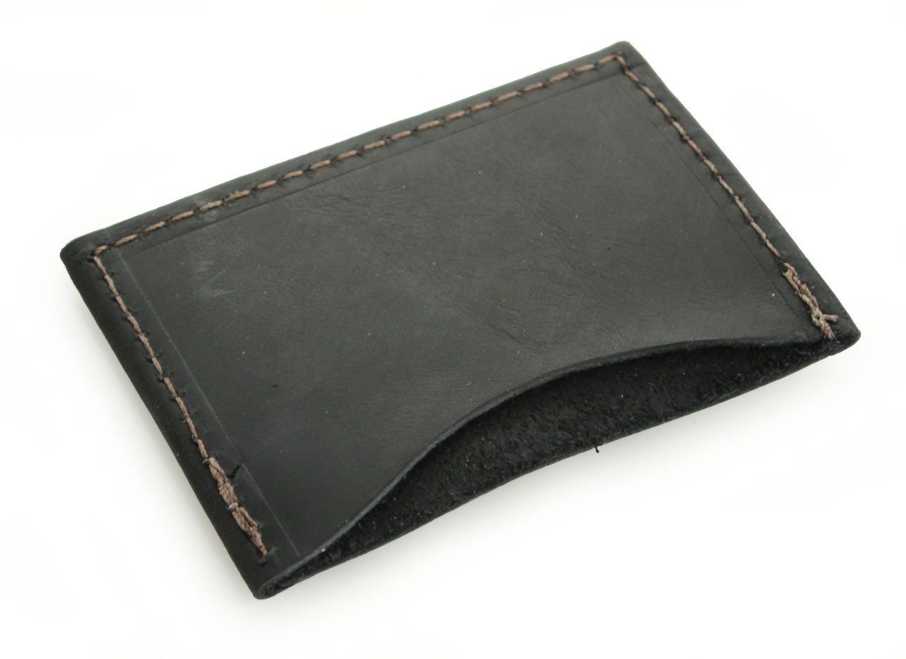 Top Rustic Credit Card Sleeve, in choice of high quality leather- by  DC31